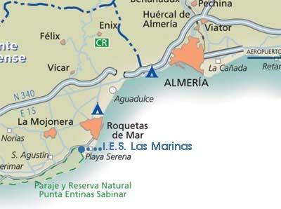 Localización del I.E.S. Las Marinas