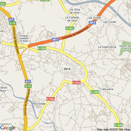 mapa de vera