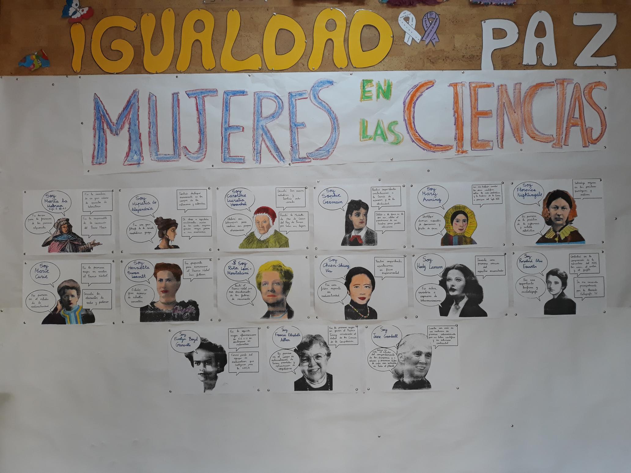 cartel mujeres científicas