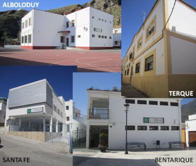 Foto de las cuatro localidades