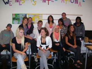 Students from the 10. Aabenraa school
