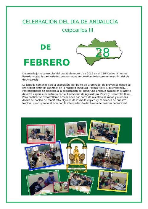 Celebración del Día de Andalucía 2016