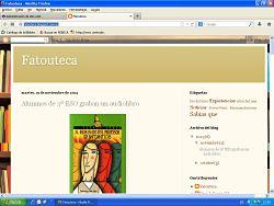 Captura de pantalla con la nueva web de la Biblioteca