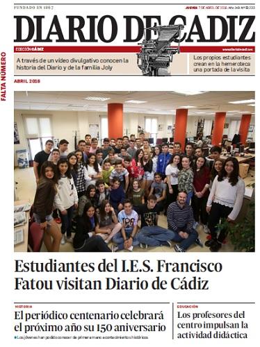 Portada ficticia del Diario de Cádiz