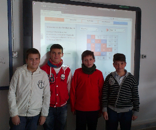The winner team in the product game. Why don´t you visit the Mathematics Departament website?