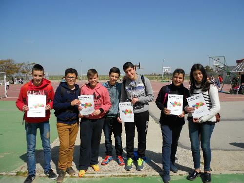 Alumnos asistentes a la Olimpiada Matemáticas 2015, en Chiclana