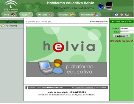 Inicio guadalinex helvia for Juntadeandalucia oficina virtual