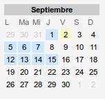 Calendario inicio curso 2016-2017 hasta el 15 de septiembre