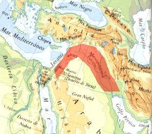 Mapa De Oriente Medio El Creciente Fertil.La Revolucion Neolitica