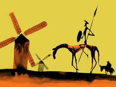 Postal del Quijote