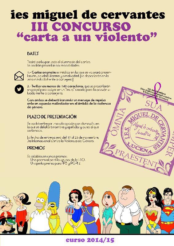 cartel concurso contra la violencia de genero