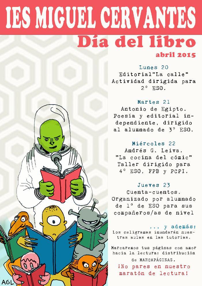 cartel del dia del libro 2015
