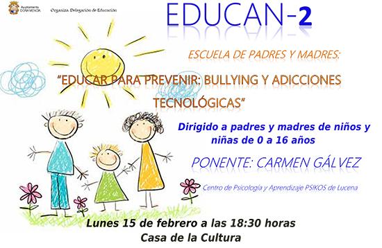 Cartel escuela de padres y madres