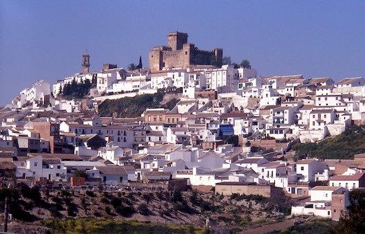 Vista del pueblo con el castillo