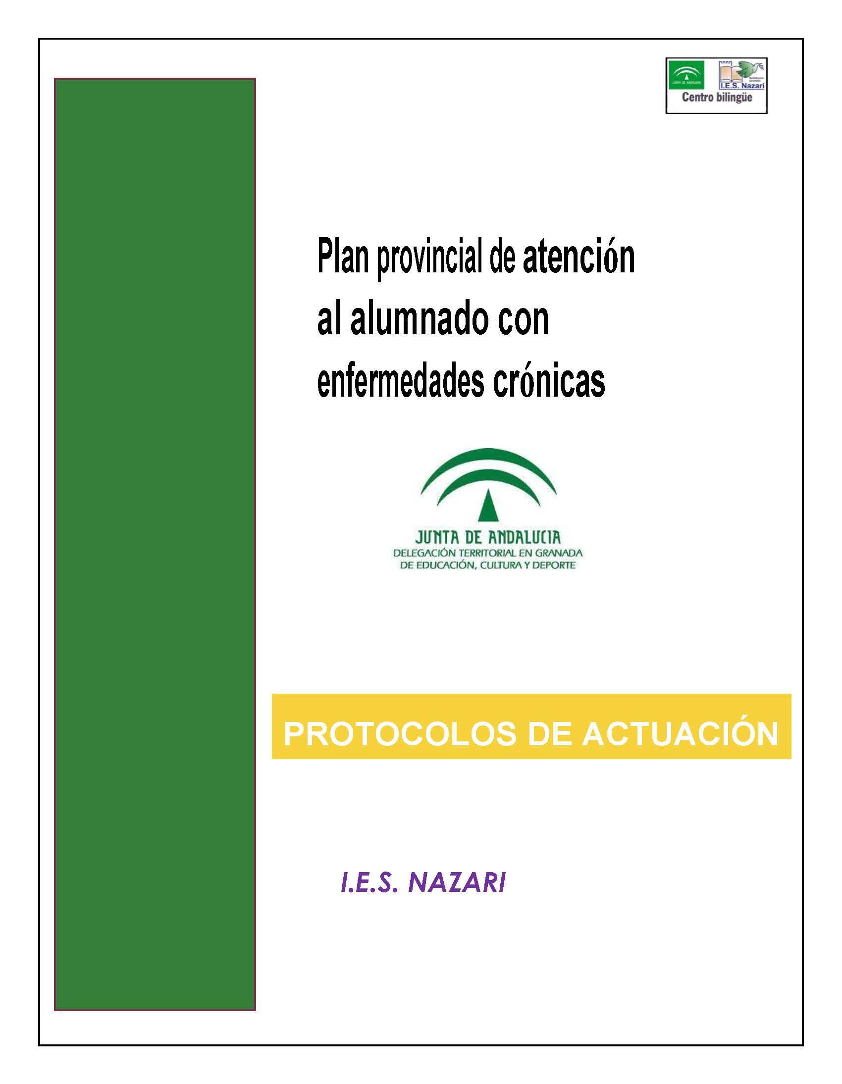 PROTOCOLOS DE ATENCION AL ALUMFERMEDADES CRONICAS IES NAZARI PORTADA