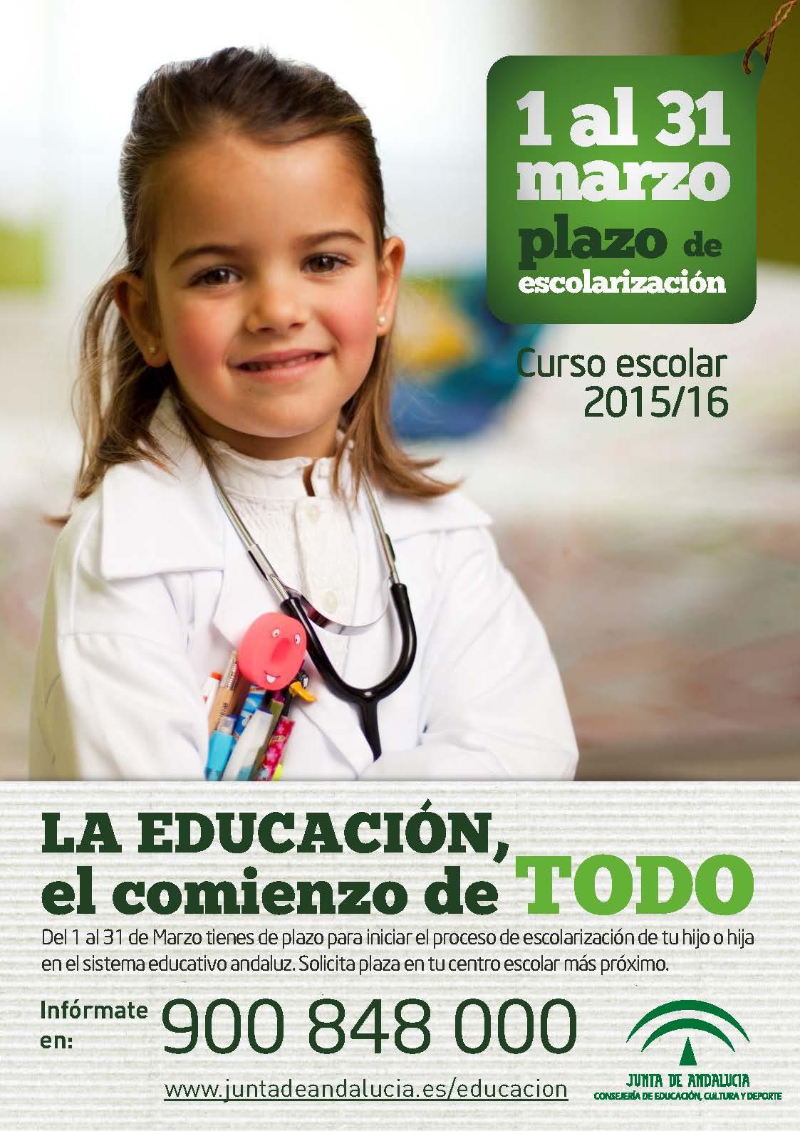 cartel ESCOLARIZACION 2015