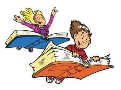 niños volando