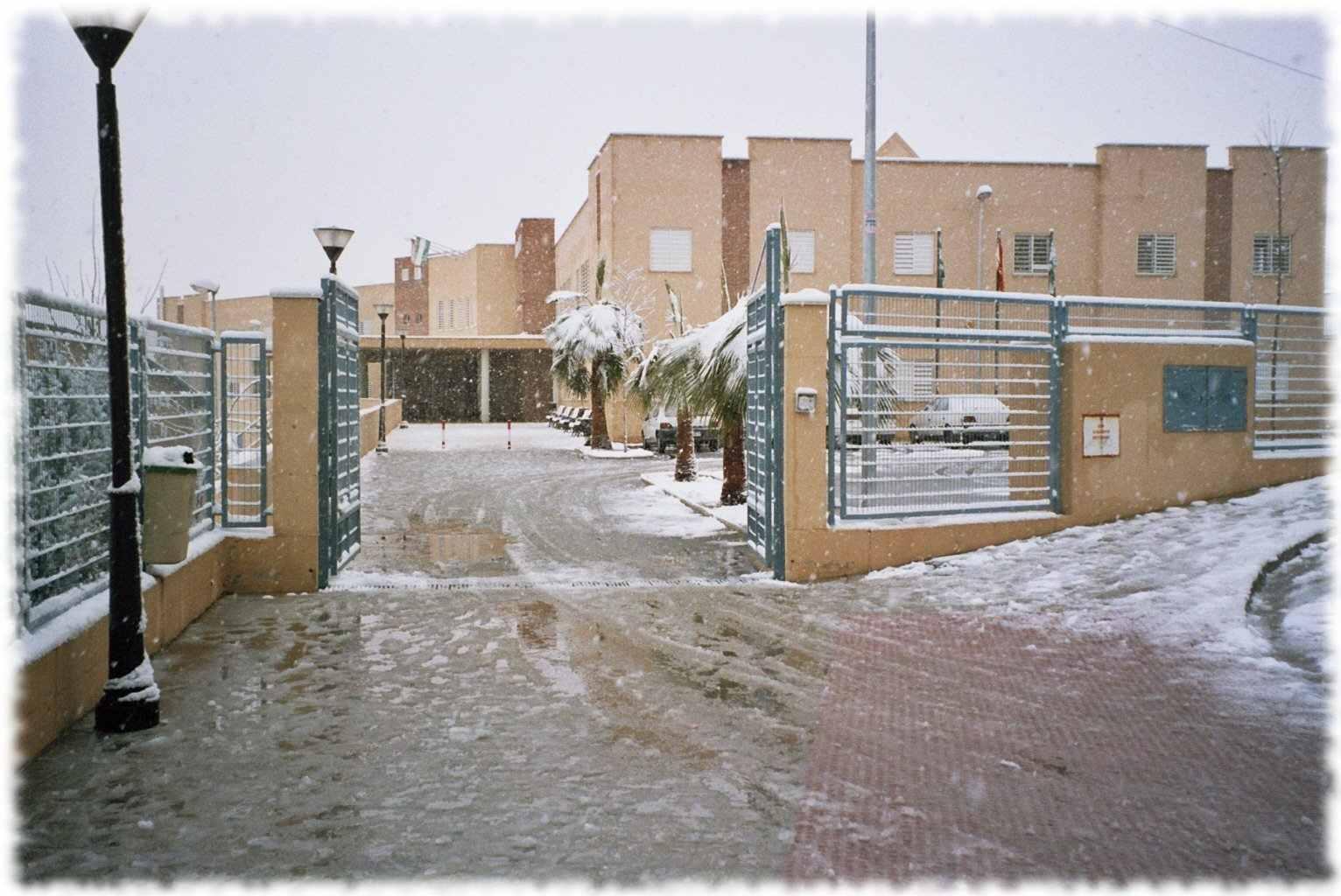Foto de Fachada con nieve