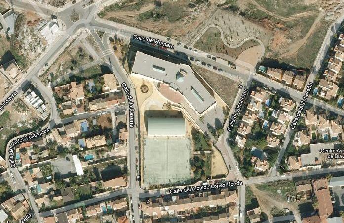 Vista aérea del centro