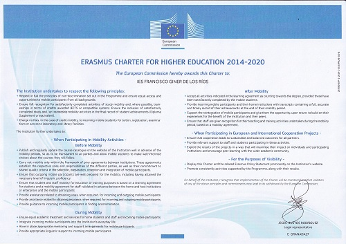Carta Erasmus +