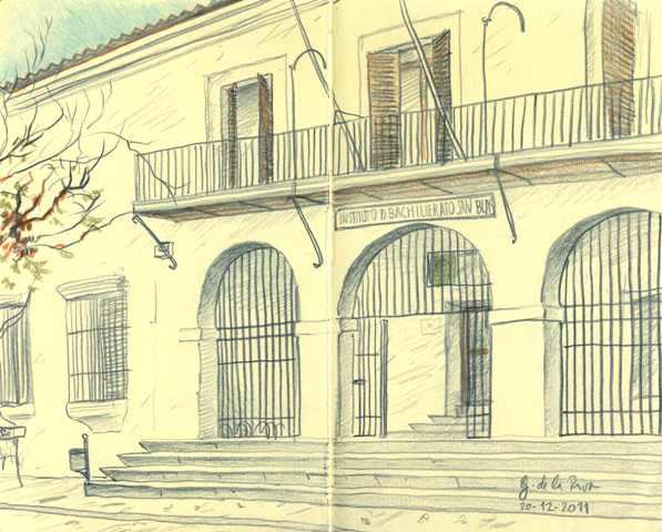 Dibujo fachada IES San Blas