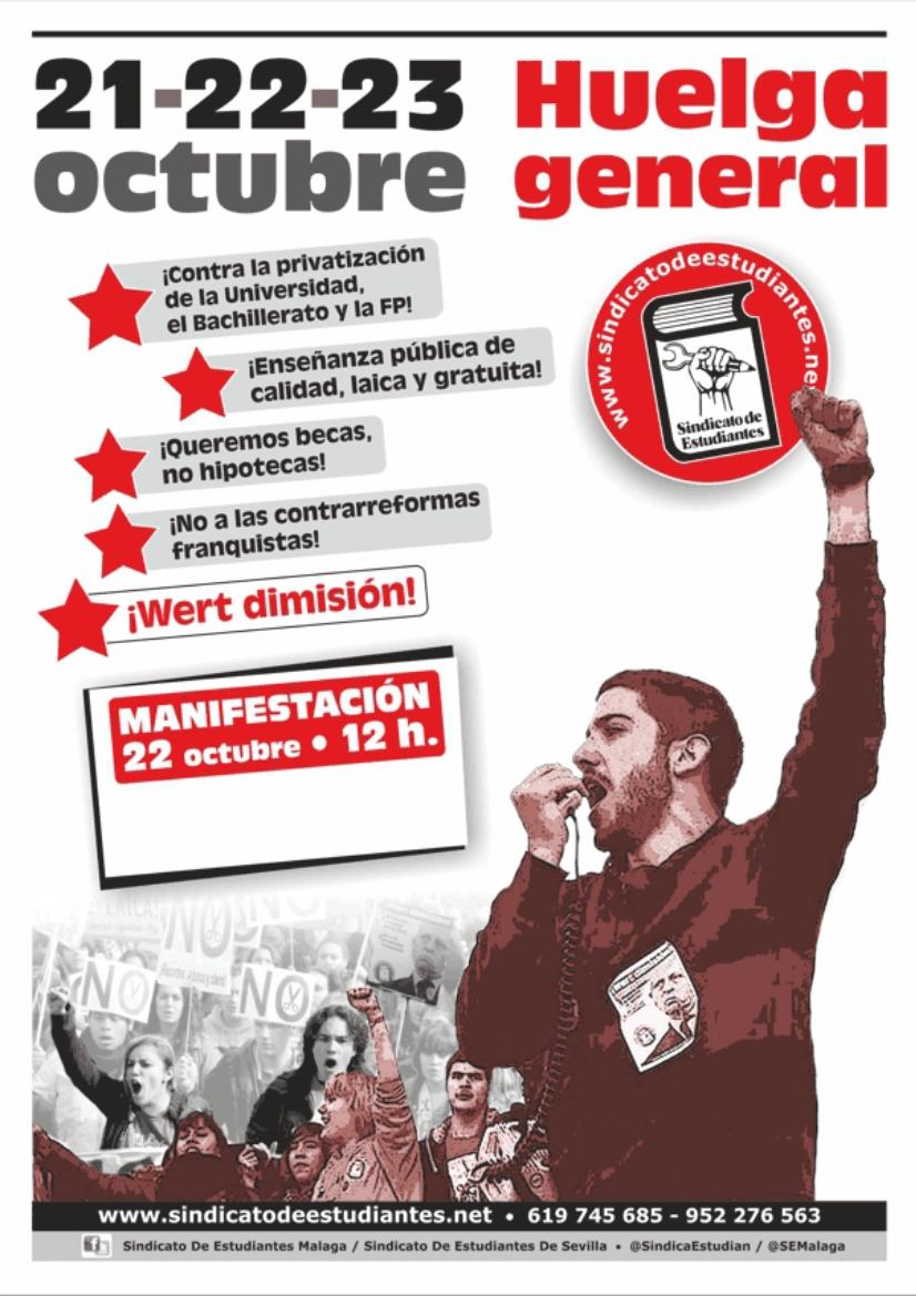 Cartel Huelga 2015