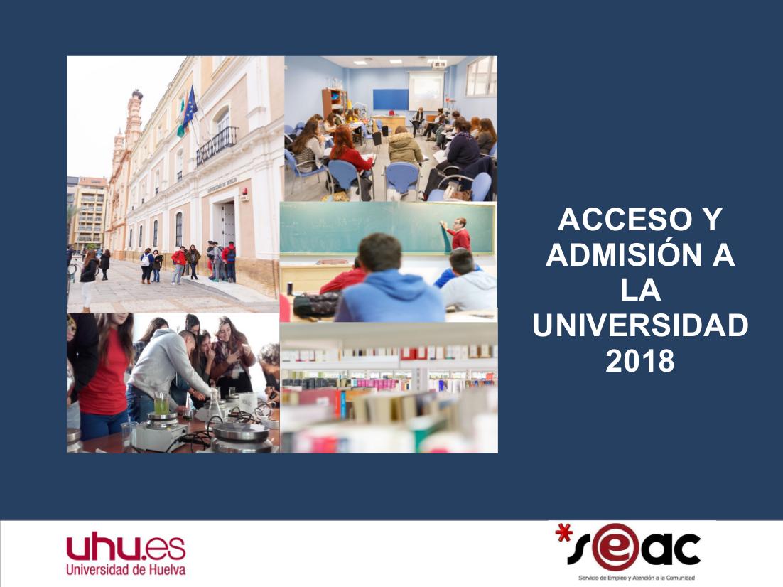 2018 Guía de la UHU de la Prueba de Acceso Universidad