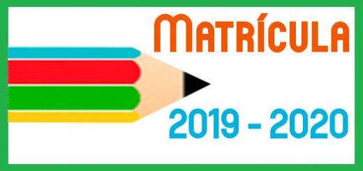 2020 Calendario de Matriculación