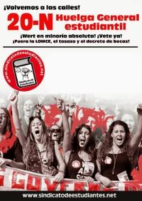 Cartel de la Huelga de estudiantes del 20N 2013 miniatura