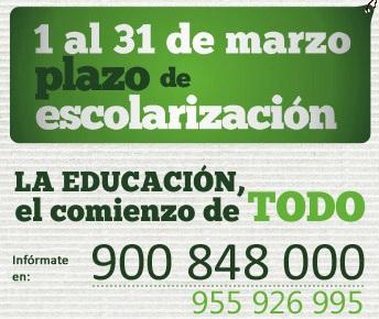 ESCOLARIZACIÓN Y MATRICULA, Curso 2014/2015