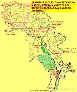 Rutas de los dos senderos a pi de Diciembre en Torrijos