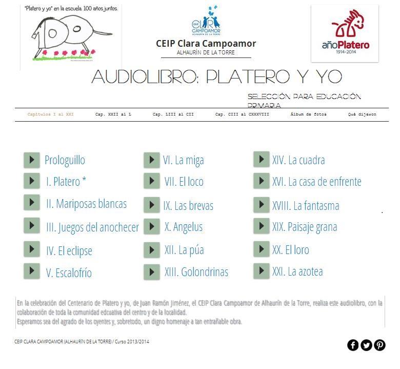 AUDIOLIBRO PLATERO Y YO