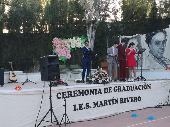 Actuación musical a cargo de Rubén, alumno de 2º  Bachillerato