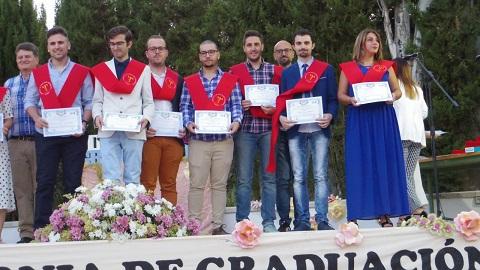 Entrega de diplomas a alumnos de Formación Profesional Ciclo DAW