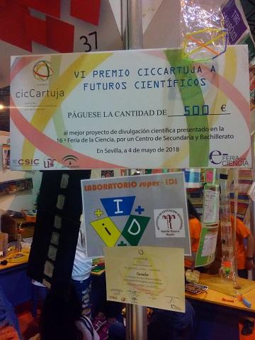 Cheque premio feria Ciencia Sevilla
