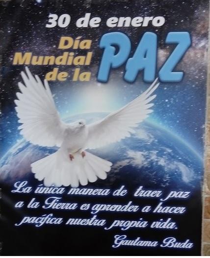 Cartel entrada Instituto día de la Paz