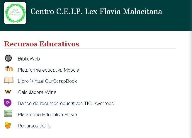 Servidor de Recursos del CEIP Lex Flavia