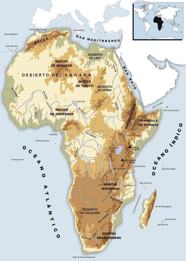 Mapa Fisico Africa Mudo Blanco Y Negro.Sitio Web De Ceip Maria Auxiliadora