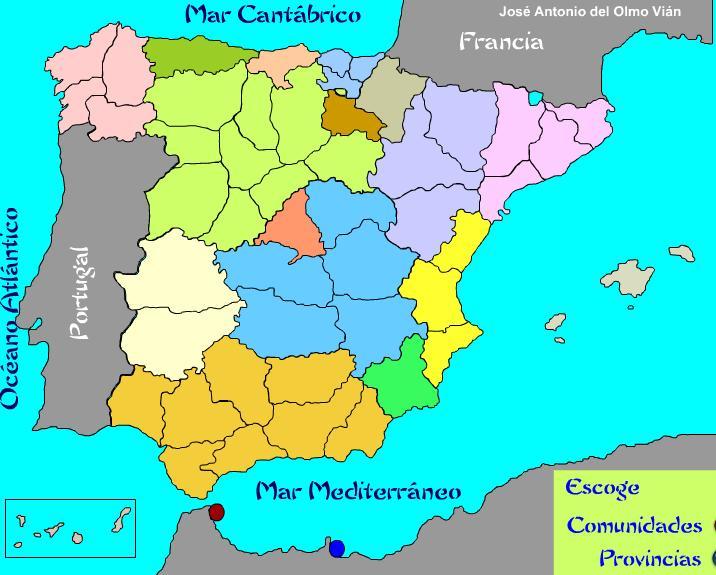 Mapa Mudo Provincias España Tamaño Folio.Sitio Web De Ceip Maria Auxiliadora