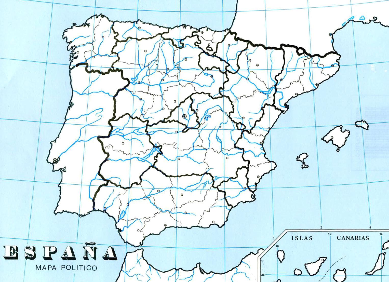 Mapa Politico De España Mudo Vicens Vives.Sitio Web De Ceip Maria Auxiliadora