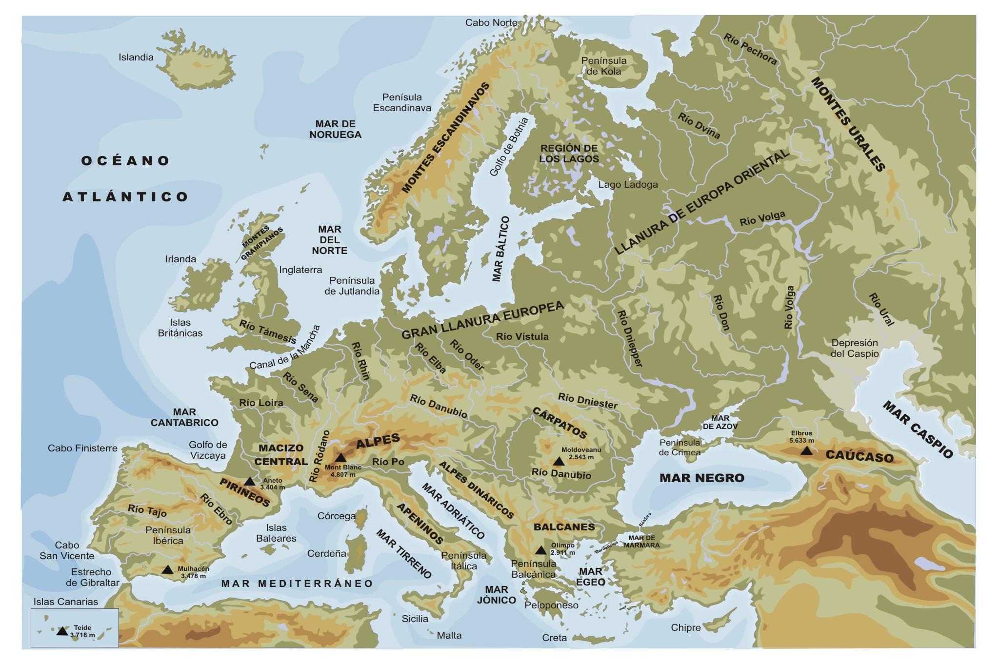 Mapa Fisico Europa Mudo.Sitio Web De Ceip Maria Auxiliadora