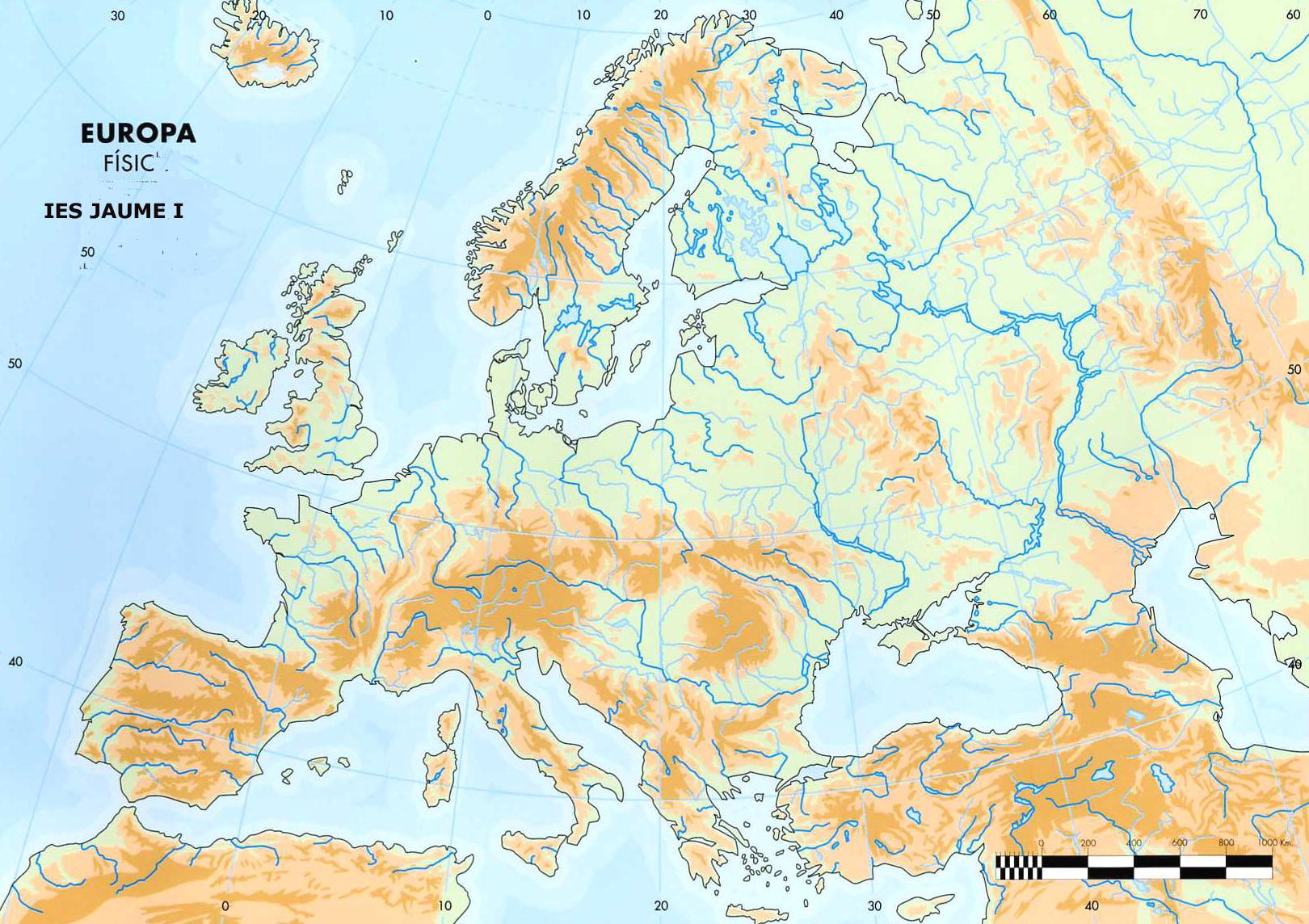 Mapa Mudo Fisico Europa Para Imprimir A4.Sitio Web De Ceip Maria Auxiliadora