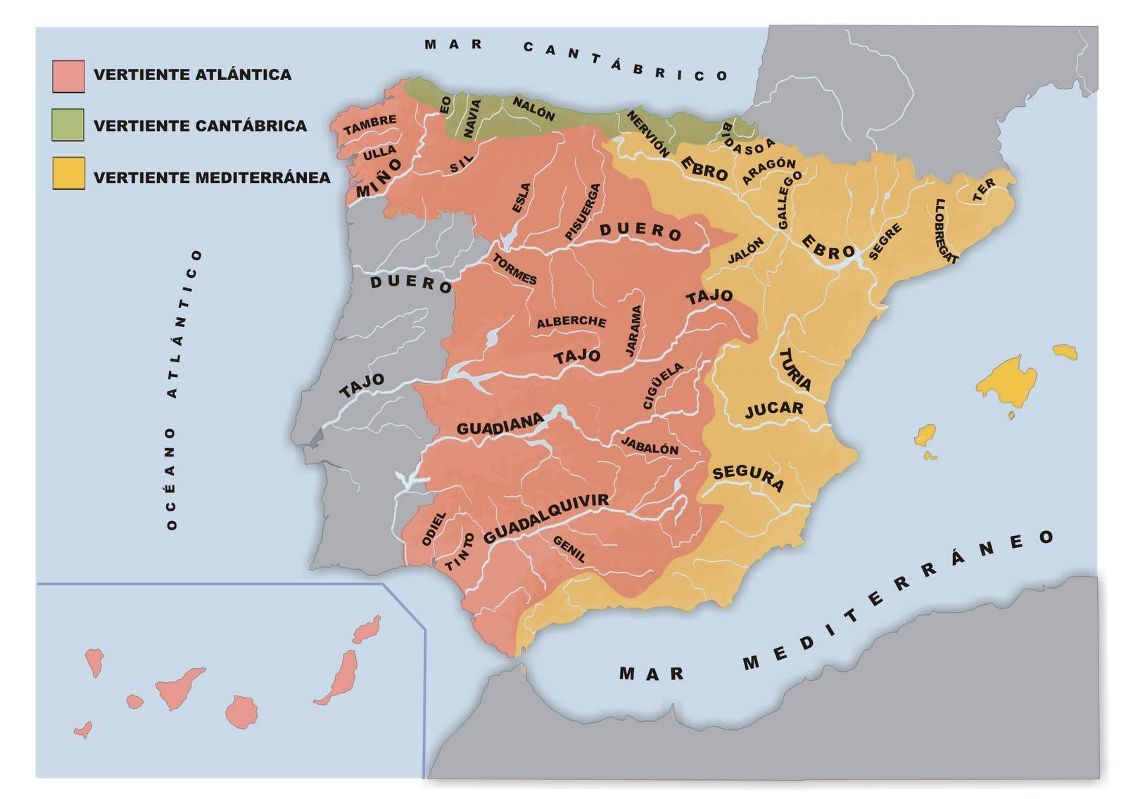Mapa De España Mudo Rios Para Imprimir.Sitio Web De Ceip Maria Auxiliadora