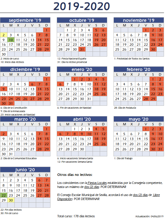 Calendario Sevilla.Sitio Web De C E I P Concepcion De Estevarena