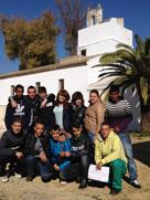 visitando el parque de Miraflores