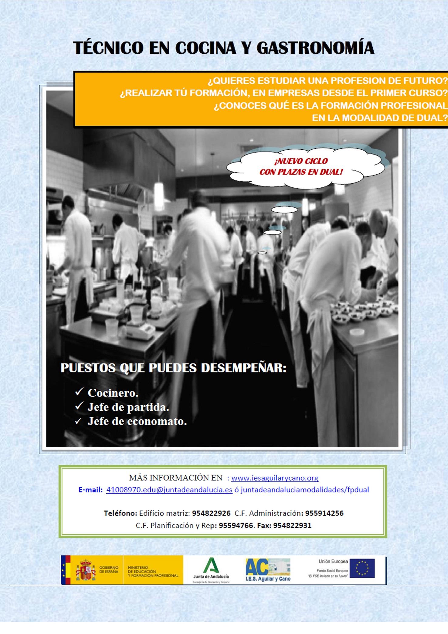 Cartel publicitario CF de Cocina