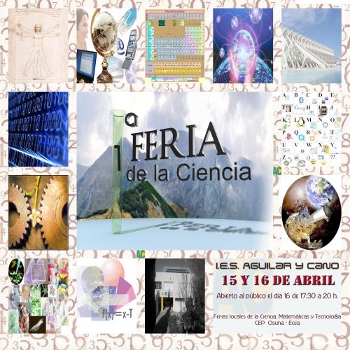 Cartel para la I feria de la ciencia de Aguilar y Cano