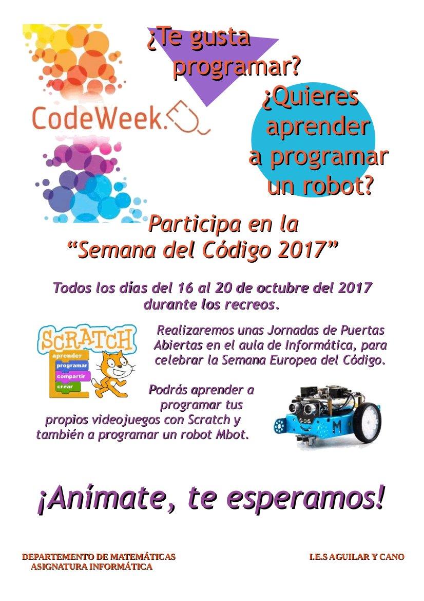 Cartel para la promoción de la EU Code Week 2017