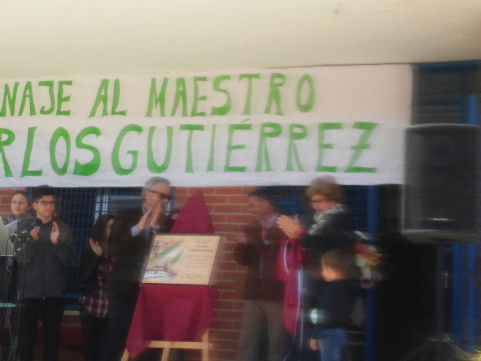 Acto Homenaje Maestro Carlos Gutiérrez