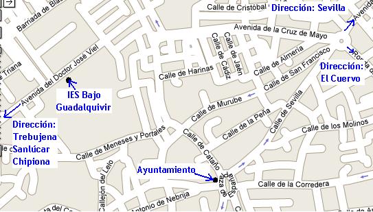 Localización del IES Bajo Guadalquivir